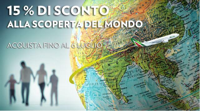 Codice sconto Alitalia del 15%