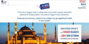 concorso europ assistance gli inutili in valigia