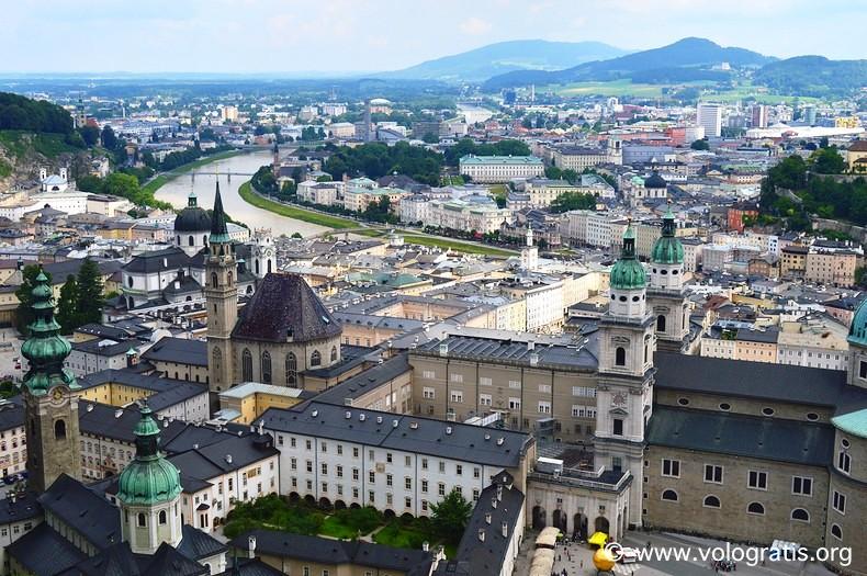 panorama di salisburgo dalla fortezza viaggio a salisburgo