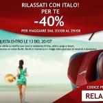 Per agosto treni Italo scontati del 40%