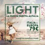 Tariffa Light Alitalia: voli a/r per l'Italia e per l'Europa da € 79