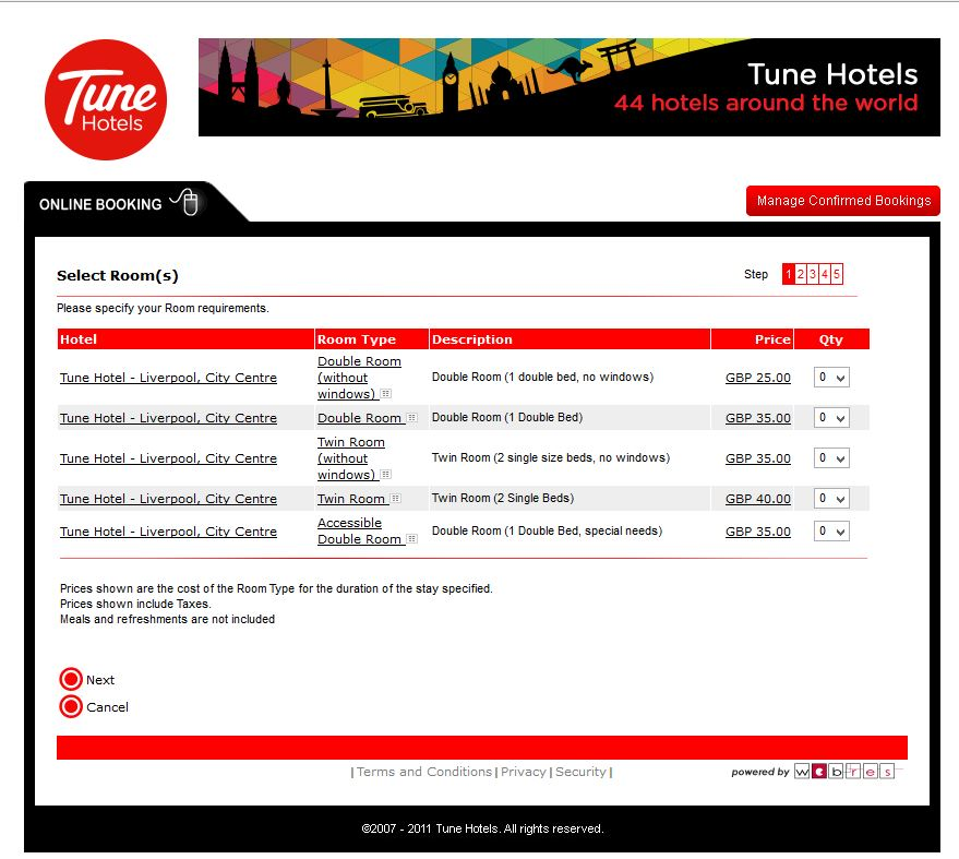 tune hotels liverpool 2