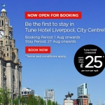 Apre il Tune Hotels Liverpool City Centre con camere doppie da £ 25