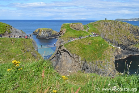 Carrick-a-rede rope bridge causeway coastal route