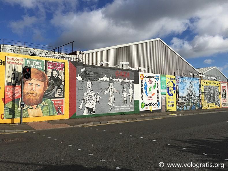 murales troubles diario di viaggio a belfast