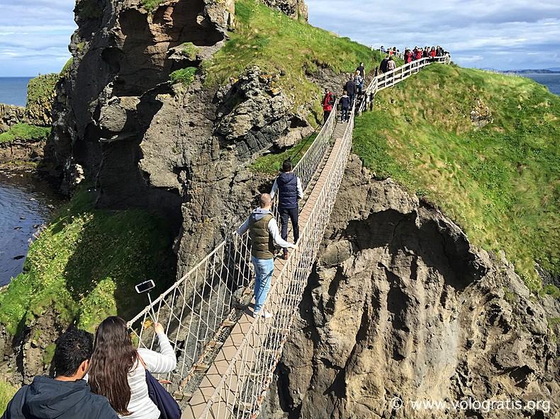 ponte di corda Carrick-a-rede rope bridge diario di viaggio causeway coastal route