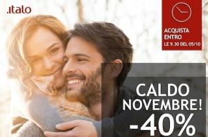 codice sconto italo novembre 2015