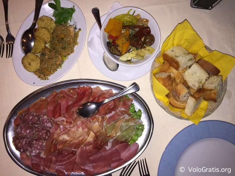 carne salada arco e trota ristorante alla lega