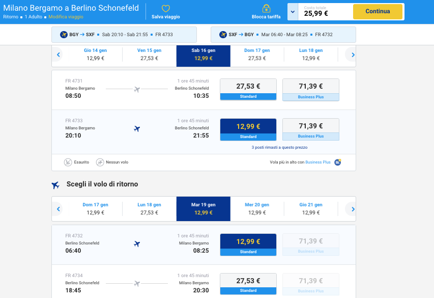 voli low cost ryanair per berlino