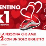 Biglietti 2×1 Trenitalia. Offerta per San Valentino