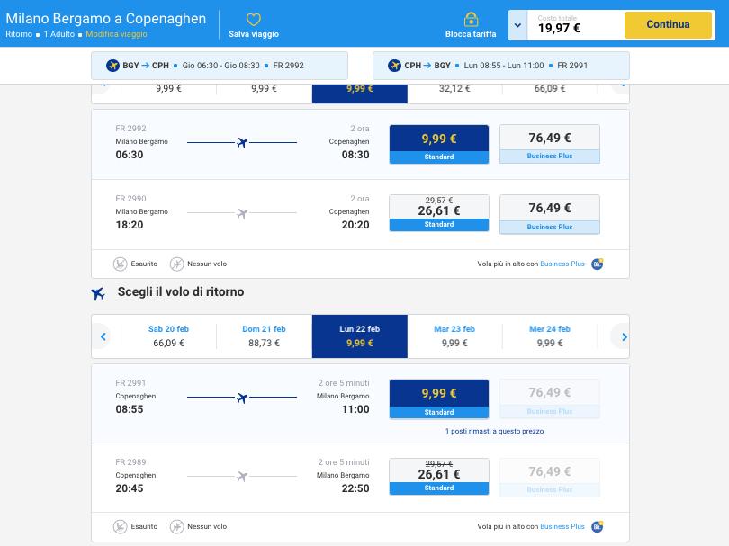 biglietti aerei low cost per copenaghen