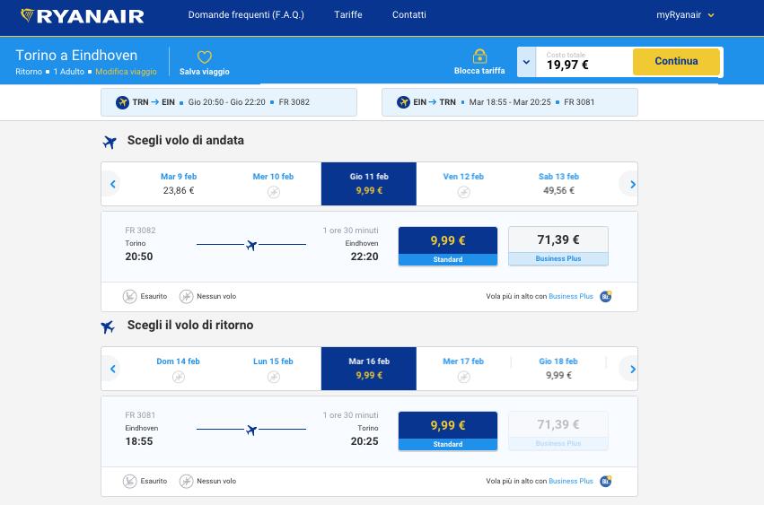 biglietti aerei low cost per eindhoven