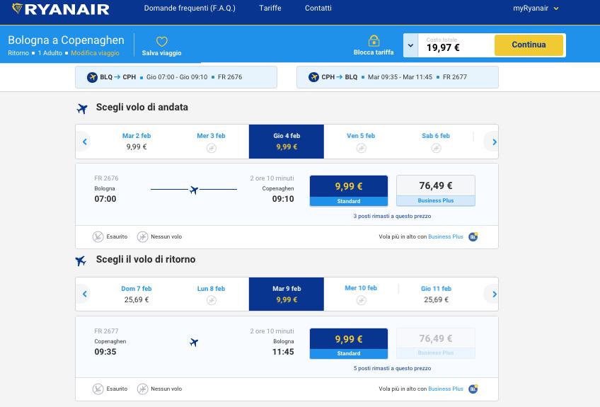 biglietti aerei low cost bologna copenaghen