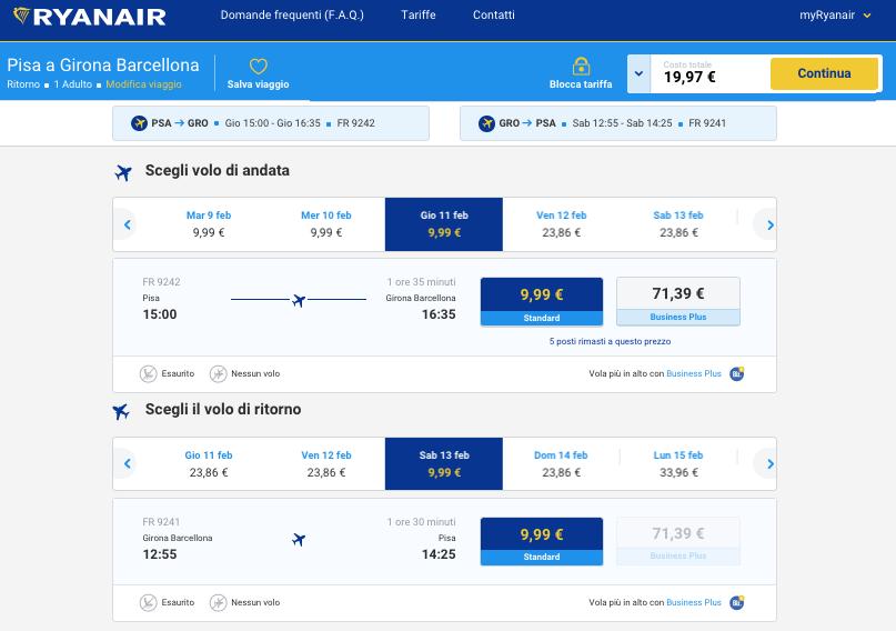 biglietti aerei low cost per girona