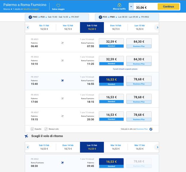 biglietti aerei low cost da palermo