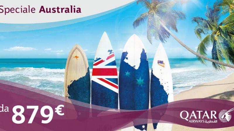 voli per l'australia qatar airways