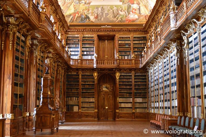 biblioteca monastero strahov viaggio praga