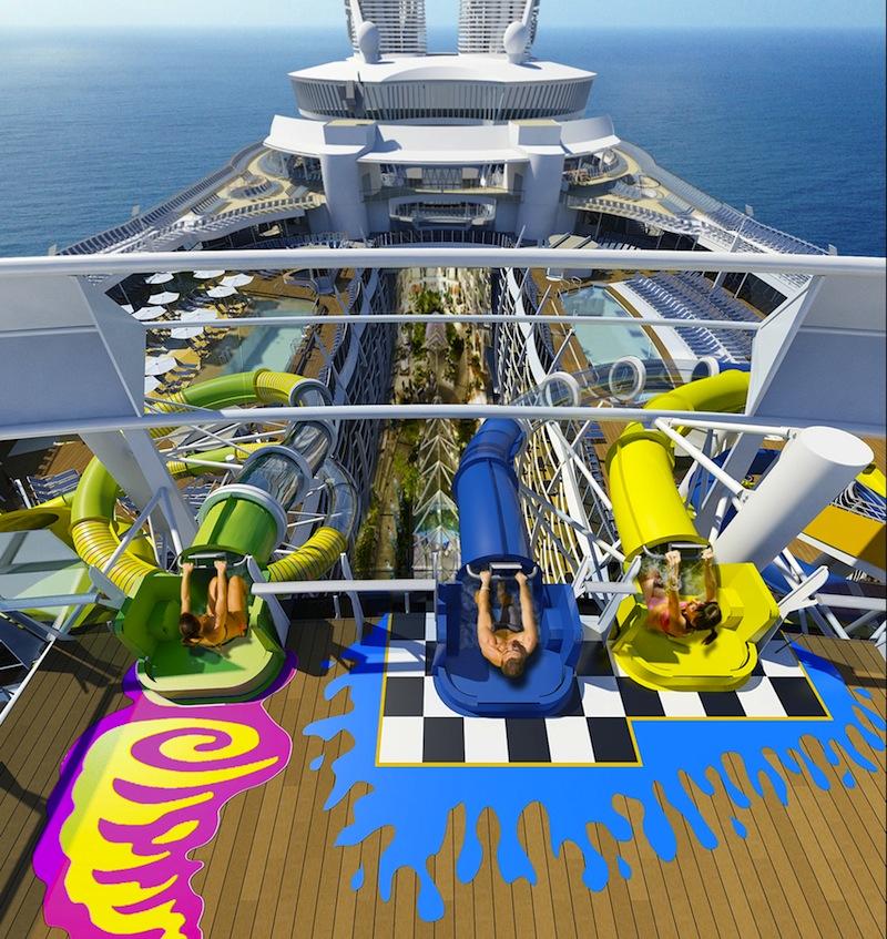 scivolo harmony of the seas nave da crociera piu grande del mondo