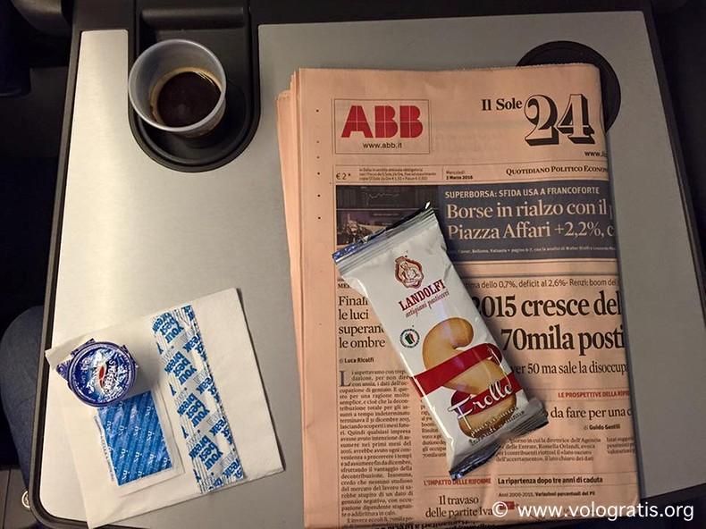viaggiare con italo treno snack a bordo
