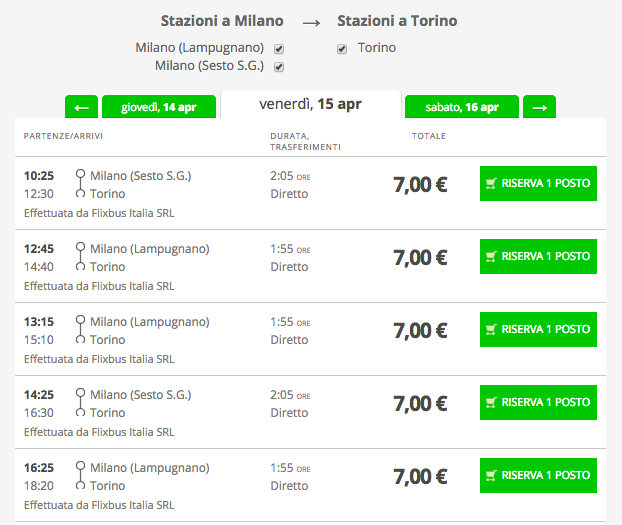 biglietti flixbus 1 euro low cost