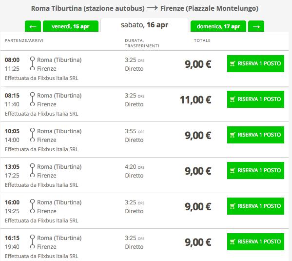 biglietti flixbus low cost roma firenze