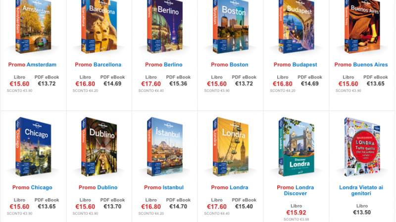 guide lonely planet scontate