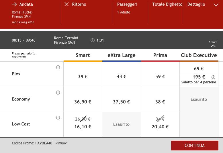codice sconto italo treno del 40 per viaggiare tra maggio e giugno