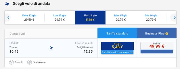 voli low cost per la francia a 5 euro