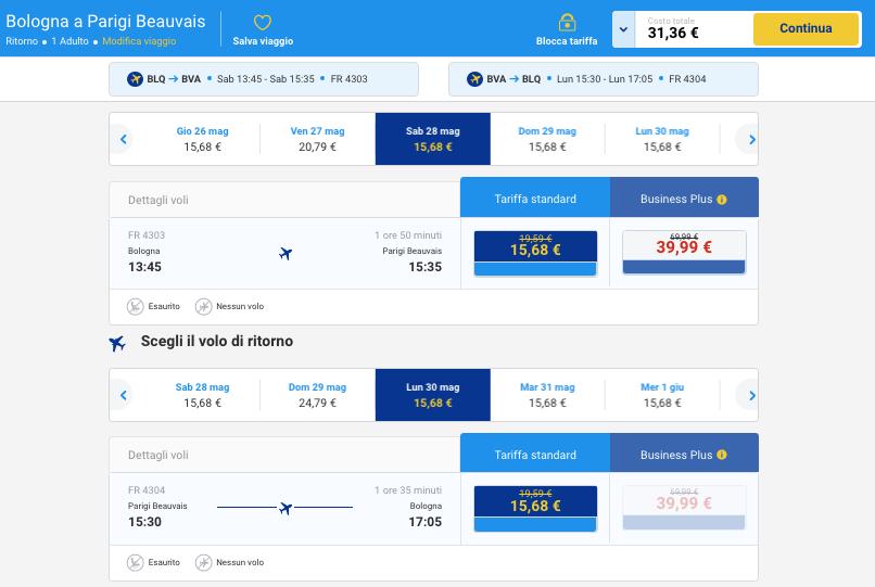voli low cost per la francia da bologna