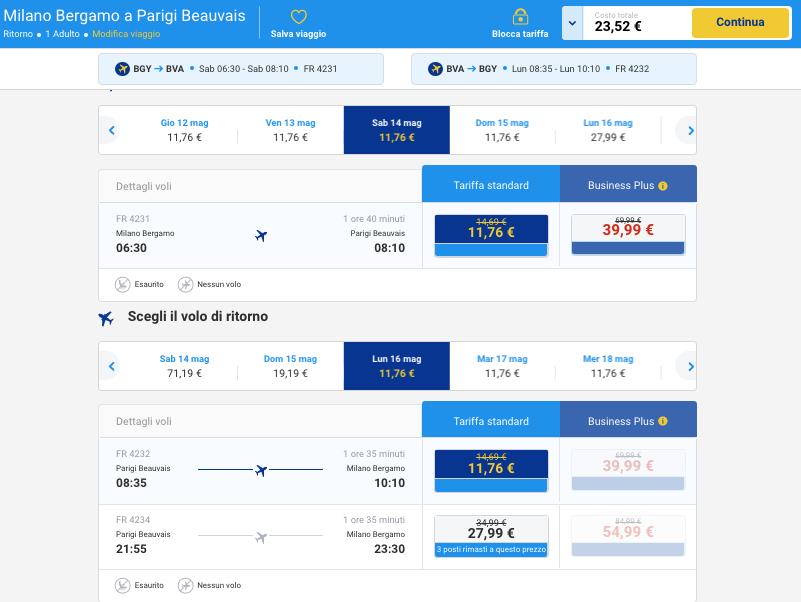voli low cost per la francia da milano