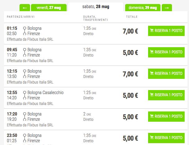 biglietti low cost flixbus per firenze