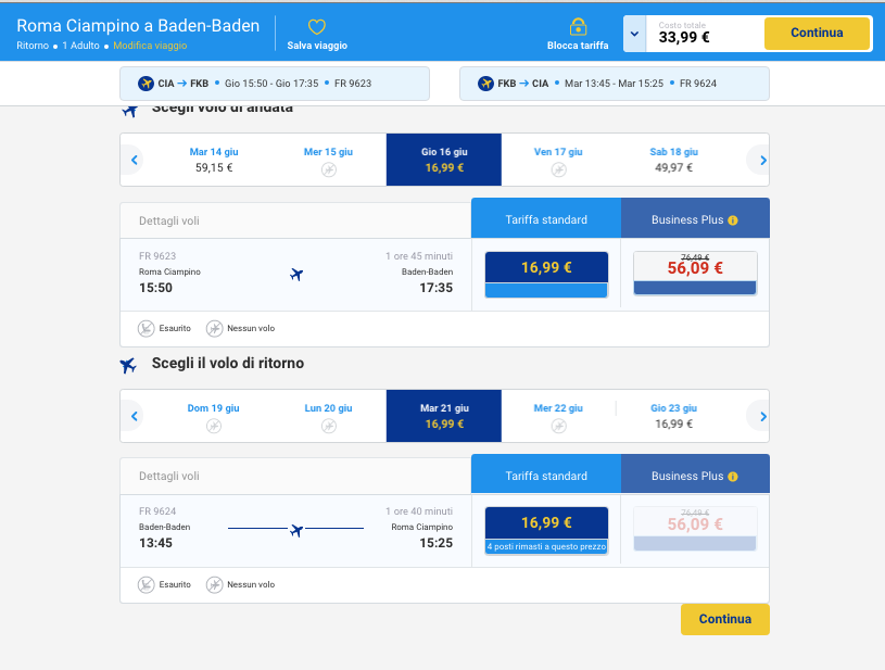 offerta ryanair germania