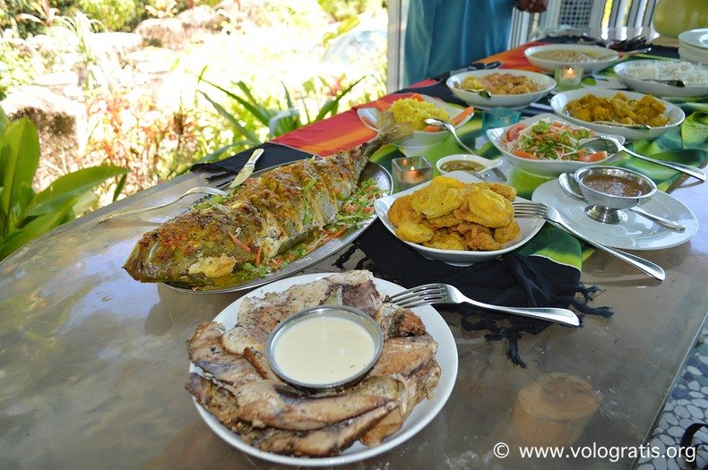 buffet creolo a la digue