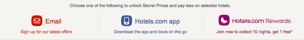 secret prices hotels
