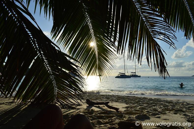 tramonto viaggio alle seychelles