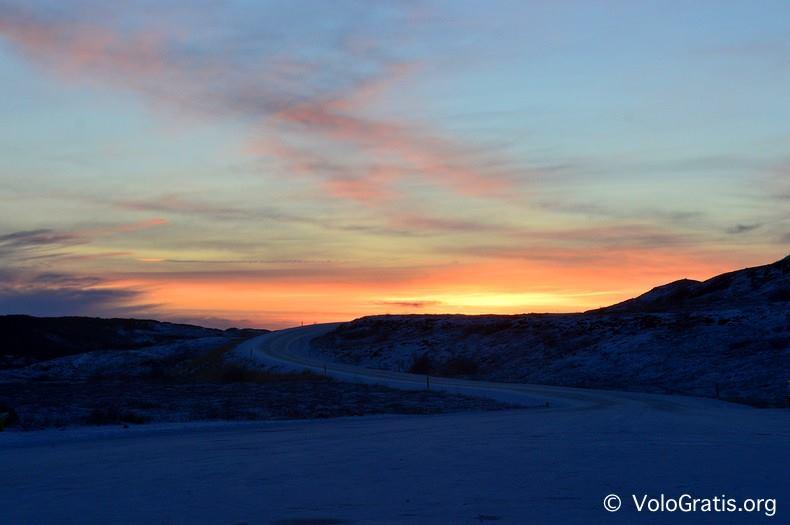 foto islanda tramonto