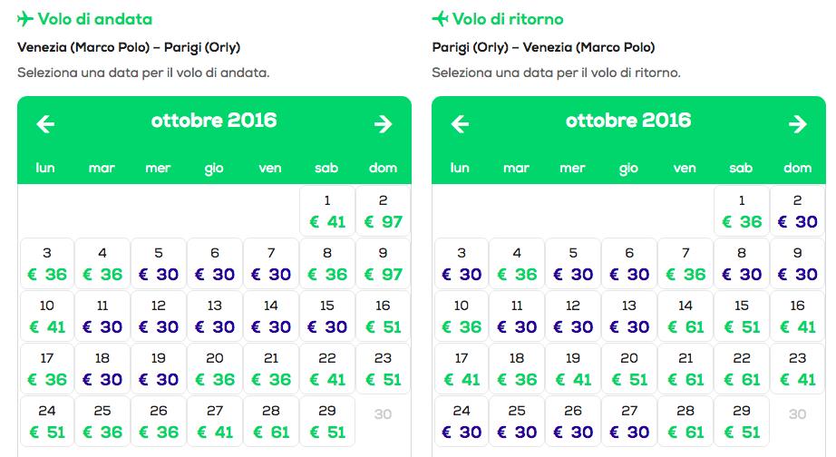 voli low cost parigi transavia