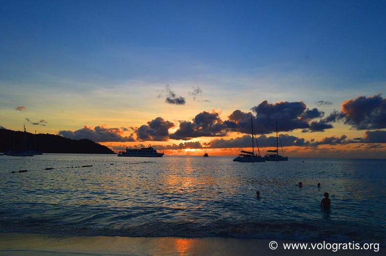 foto seychelles tramonto
