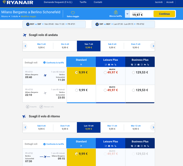 voli low cost europa