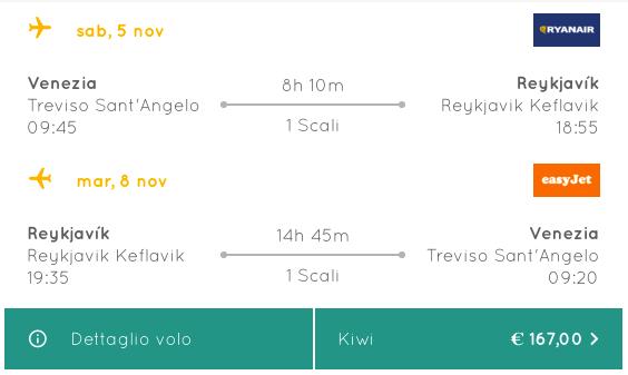 voli low cost per islanda da venezia