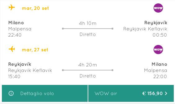 voli low cost per islanda