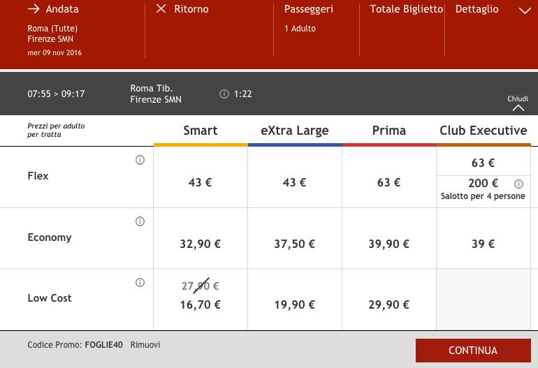 codice promo italo 2