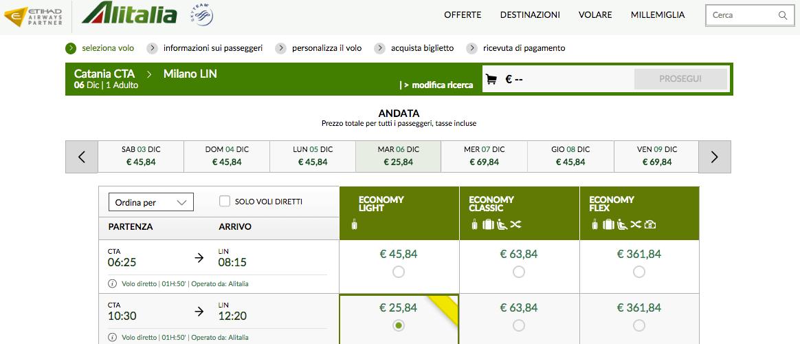 Voli low cost Alitalia da € 19  VoloGratis.org