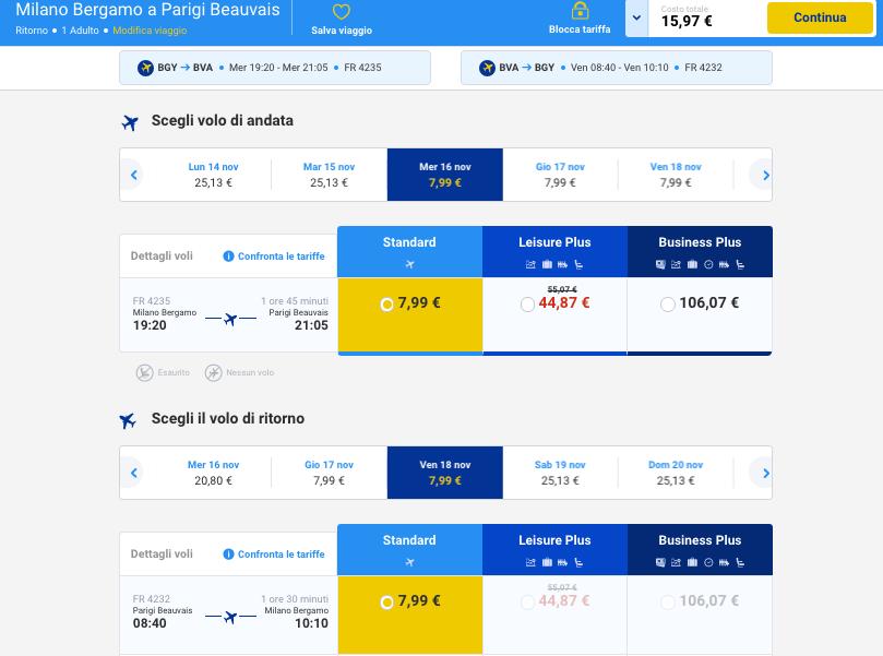 voli low cost per europa