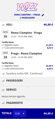 voli per praga low cost da roma