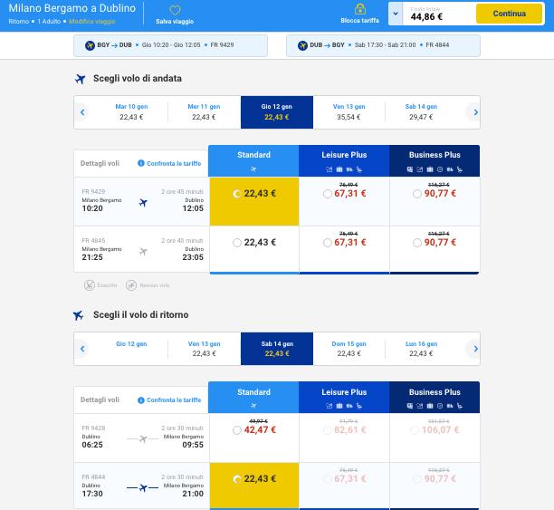 voli low cost dublino 2017