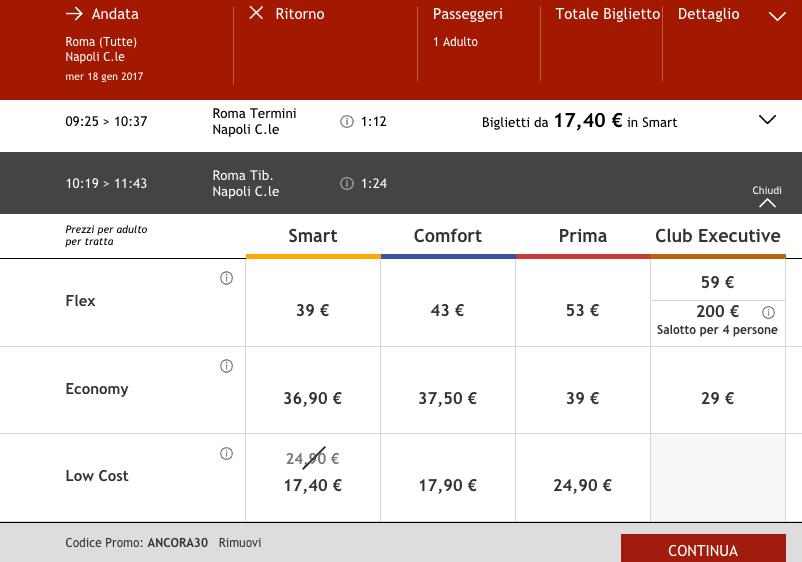 codice sconto italo treno 2017