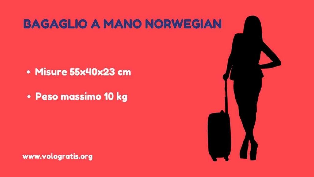 bagaglio a mano norwegian