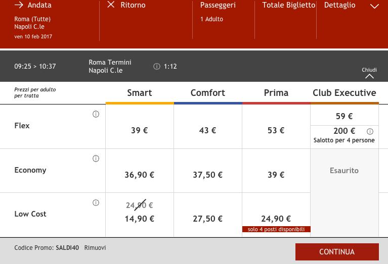 biglietti italo in offerta