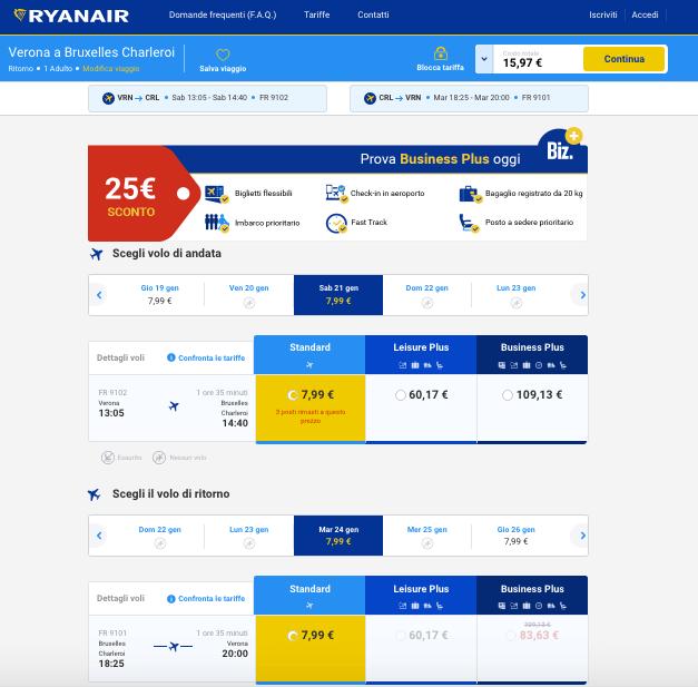 voli low cost per il belgio
